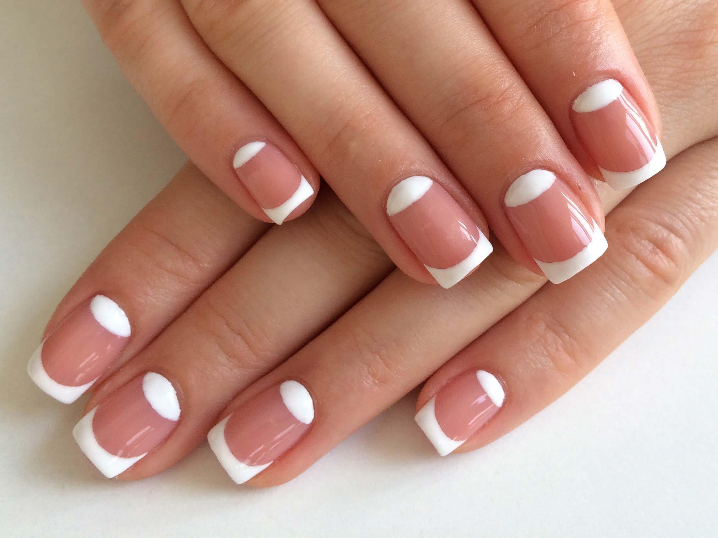 Фото коротких ногтей белый френч