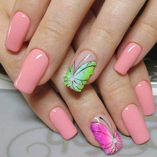 Бабочки рисунки на ногтях 2016 новинки
