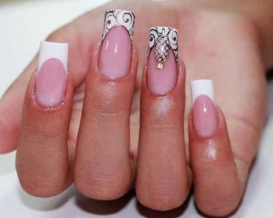 Рисунки На Короткие Ногти Черный