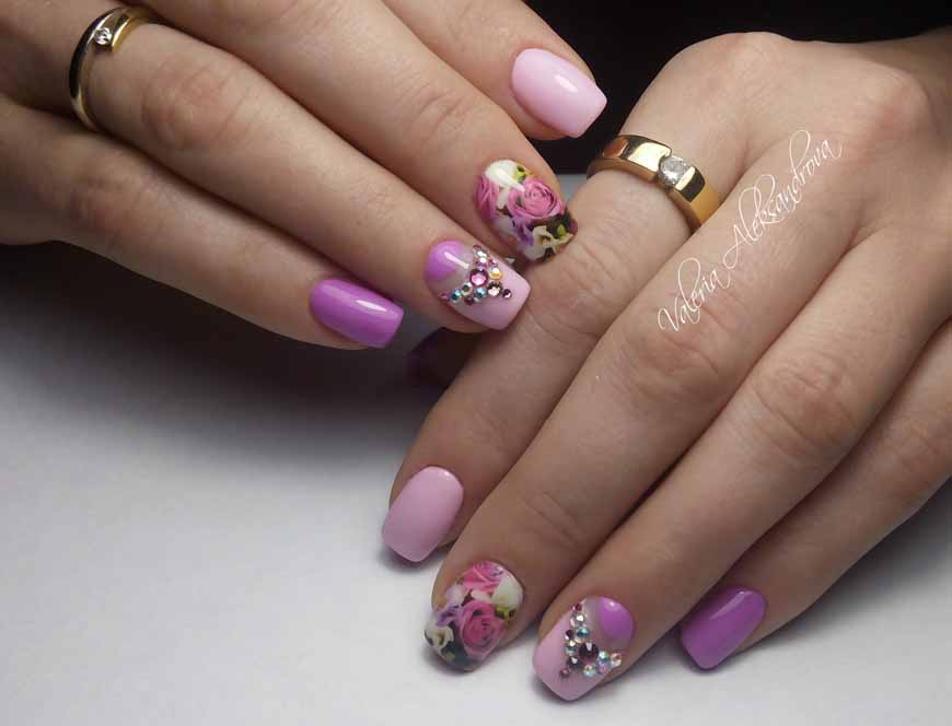 Нарощенные ногти фото переход цветов