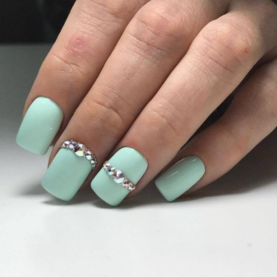 словам, лучшее ногти бирюзовые с розовым фото для