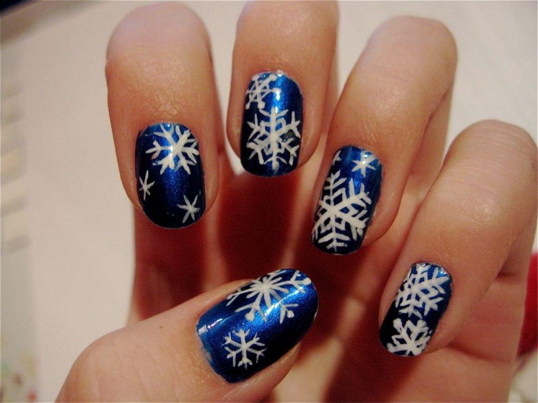 год, дизайн ногтей фото снежинки на ногтях видел