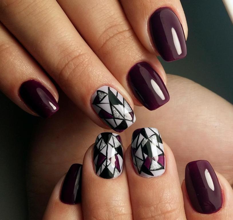 Маникюр рисунки на коротких ногтях фото
