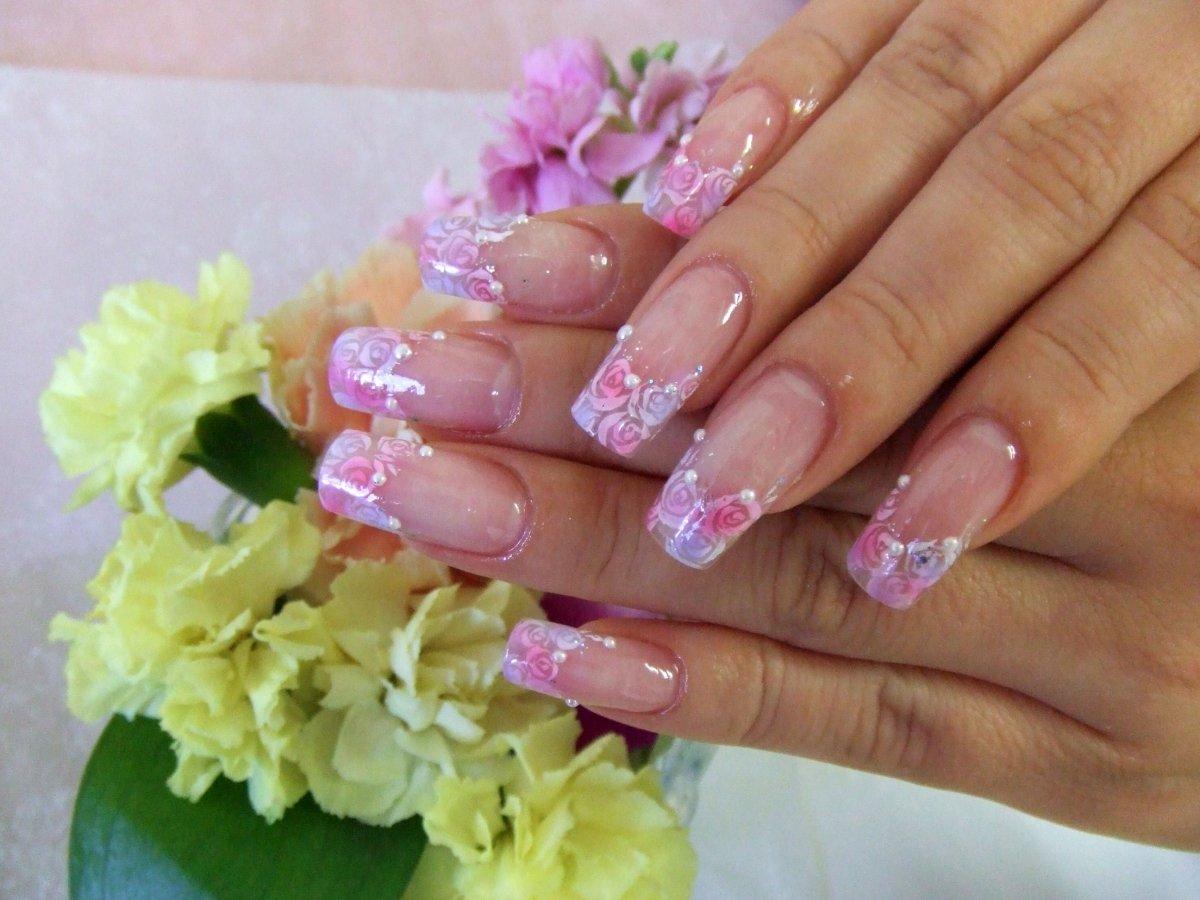 сковороду растительное весенние рисунки на нарощенных ногтях фото обслуживание хочется только