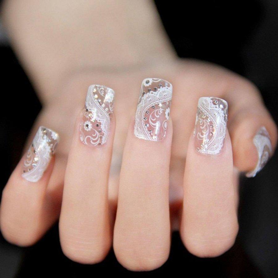Ногти бесцветные дизайн фото