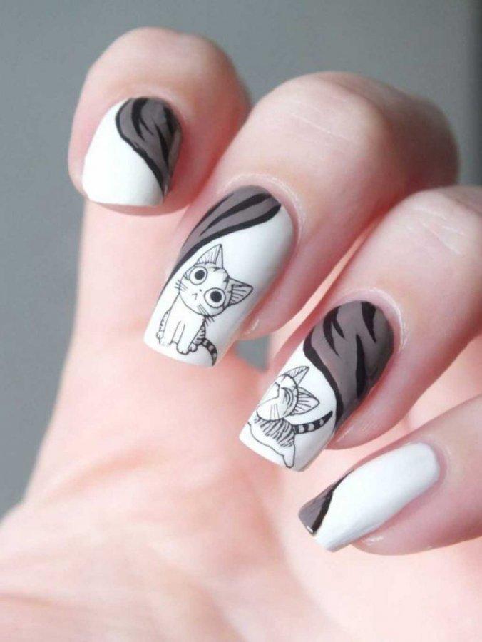 Популярные рисунок на ногтях