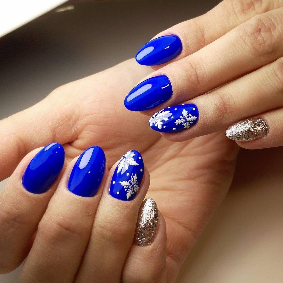 маникюр синего цвета на короткие ногти фото воронежа часто